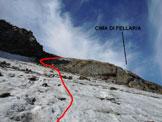 Via Normale Cima di Fellaria - Versante NE - La ripida rampa del versante NE
