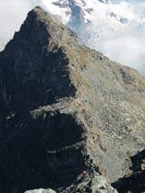 Via Normale Bec Forcù - Il Mont Rothorn dalla vetta.
