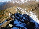 Via Normale Monte Rolla - In discesa, sulla cresta NW