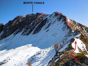Via Normale Monte Canale - Cresta WNW