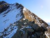 Via Normale Monte Canale - Cresta WNW - Sul passaggio roccioso all'inizio della cresta