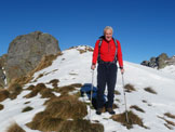 Via Normale Monte Triomen - Di ritorno dalla cima Triomen