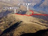 Via Normale Monte Cucco - Immagine ravvicinata ripresa dalla Cima di Fiorina