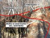 Via Normale Sasso Rosso - VN svizzera - A Trevach, dove si separano i 2 itinerari