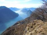 Via Normale Sasso Rosso - VN svizzera - Panorama sul Lago di Lugano, dalla cima