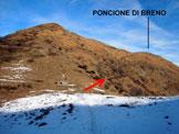 Via Normale Poncione di Breno - Il Poncione di Breno dalla Forcola d'Arasio