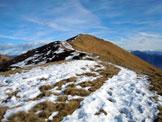 Via Normale Poncione di Breno - La vetta, dall´ultimo tratto di cresta SW