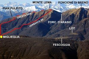 Via Normale Monte Lema