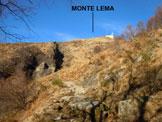 Via Normale Monte Lema - In salita, sul versante SE