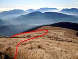 Via Normale Monte Lema - In discesa, le praterie di Pian Pulpito