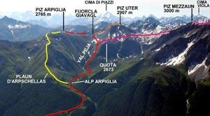 Via Normale Piz Arpiglia - Cresta S
