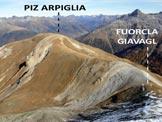 Via Normale Piz Arpiglia - Cresta S - Immagine ripresa dalla cresta NE del Piz Uter