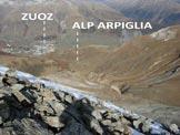 Via Normale Piz Uter - Immagine ripresa dalla cresta NE del Piz Uter