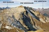 Via Normale Piz Uter - Il Piz Mezzaun, dal Piz Uter