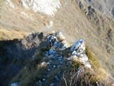 Via Normale Monte Forametto - Lungo la cresta