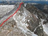 Via Normale Cresta Strenta - La cresta nord del Piz Boé di accesso alla cima