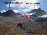 Via Normale Piz Porchabella - L'itinerario dai pressi della Chamanna digl Kesch