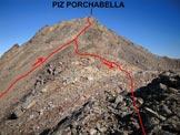 Via Normale Piz Porchabella - Immagine ripresa in discesa, dalla cresta S