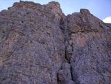 Via Normale Cima Eotvos - L´evidente linea di salita alla parte sommitale