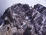 Via Normale Moiazza Nord - Dalla cresta sommitale verso q. 2865 (in centro) e la cima q. 2870 (a destra)