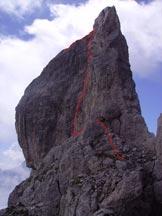 Via Normale Pala della Madonna - La cuspide sommitale