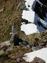 Via Normale Monte Pietra Quadra - La Madonnina sotto la cima