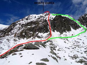 Via Normale Monte Duria - Canale centrale