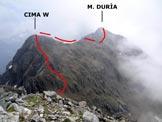 Via Normale Monte Duria - Cresta W - Immagine ripresa dal Motto Rotondo (q. 2245 m) o Cima degli Orsi