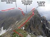 Via Normale Monte Duria - Cresta W - Immagine ripresa nei pressi della vetta