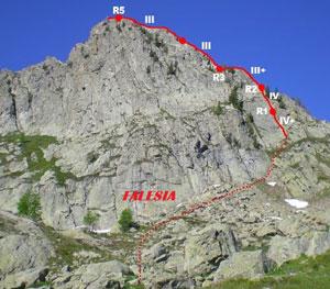 Via Normale Cima di Colla Auta - Cresta Nord