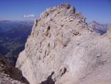 Via Normale Pelmetto - La cima dall´insellatura sommitale