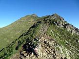 Via Normale Monte Marmontana – Cresta E - La cresta est dalla Bocchetta di Stazzona