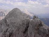 Via Normale Cresta Sud di S. Sebastiano - Verso la cima Nord di S. Sebastiano e la Civetta
