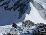 Via Normale Punta Thurwieser - Tratto sopra la cresta di neve