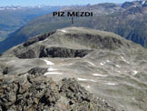 Via Normale Piz Mezdi - Immagine ripresa da SW, dal Piz Rosatsch