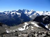 Via Normale Piz Surlej – Versante W - Panorama di vetta sul Gruppo del Bernina