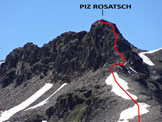 Via Normale Piz Rosatsch - L�itinerario della cresta NNE