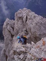 Via Normale Cima Cadin de la Neve - Dalla cima, l´inizio della discesa