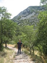 Via Normale Vedetta di Mocc� - Salendo per il sentiero