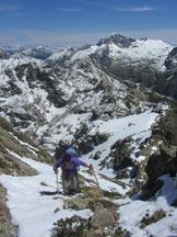 Via Normale Cima Orsera  - Canalino che precede il pulpito panoramico