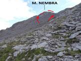 Via Normale Monte Nembra - La parte superiore dell'itinerario