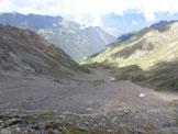Via Normale Monte Nembra - Il versante NW dove si svolge la salita, dalla vetta