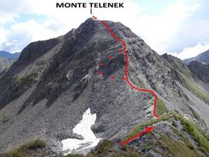 Via Normale Monte Telenek – Cresta W