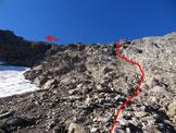 Via Normale Monte Torena - Versante N - Il canaletto/diedro
