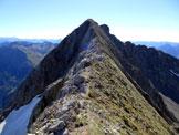 Via Normale Monte Torena - Versante N - Sulla cresta NW