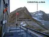 Via Normale Cristallina - Immagine ripresa dalla Capanna Cristallina