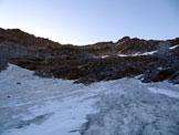 Via Normale Cristallina - In salita sul versante NW