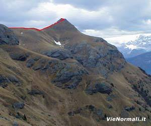 Via Normale Monte Migon (cima W)