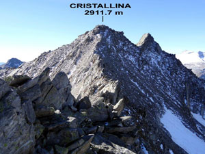 Via Normale Cristallina – Cresta NE