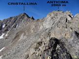 Via Normale Cristallina – Cresta NE - Sulla cresta NE